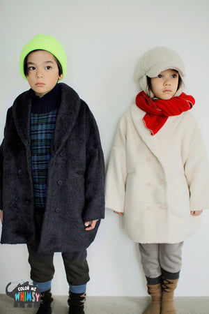 BN Camellia Coat at Color Me WHIMSY Hip Kid's Fashion Ethically Made in South Korea