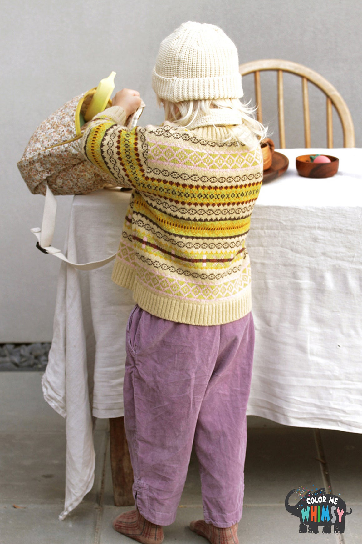 BN Colorful Knit Pullover at Color Me WHIMSY Hip Kid's Fashion Ethically Made in South Korea