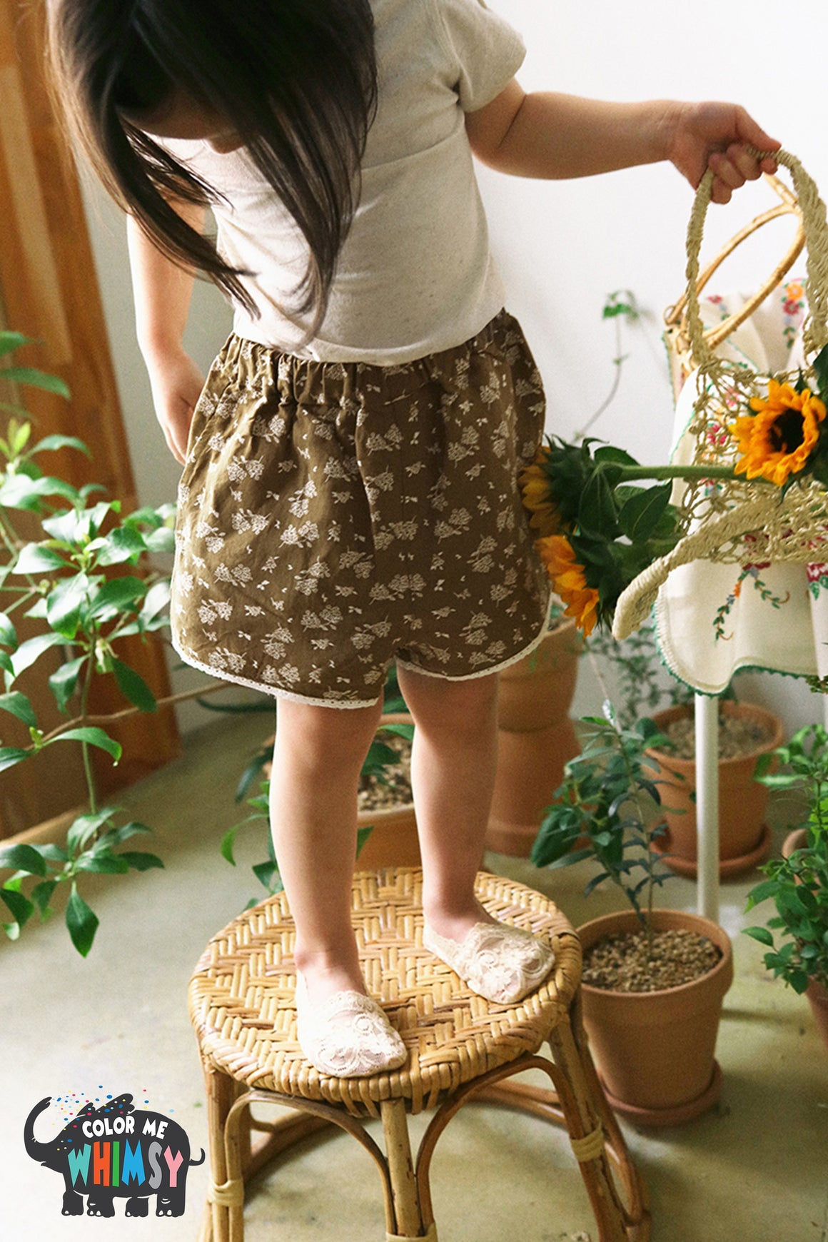 BN Como Shorts at Color Me WHIMSY Hip Kid's Fashion Ethically Made in South Korea