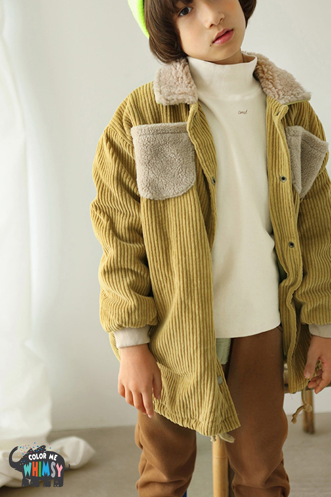 BN Corduroy Jacket at Color Me WHIMSY Hip Kid's Fashion Ethically Made in South Korea