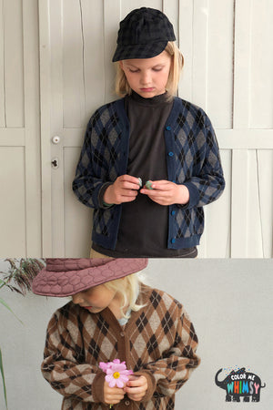 BN Monaco Cardigan at Color Me WHIMSY Hip Kid's Fashion Ethically Made in South Korea
