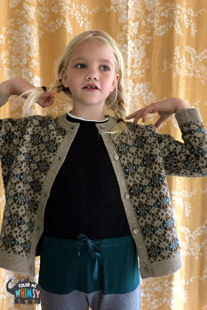 BN Praha Jacquard Cardigan at Color Me WHIMSY hip kid's fashion ethically made in south korea
