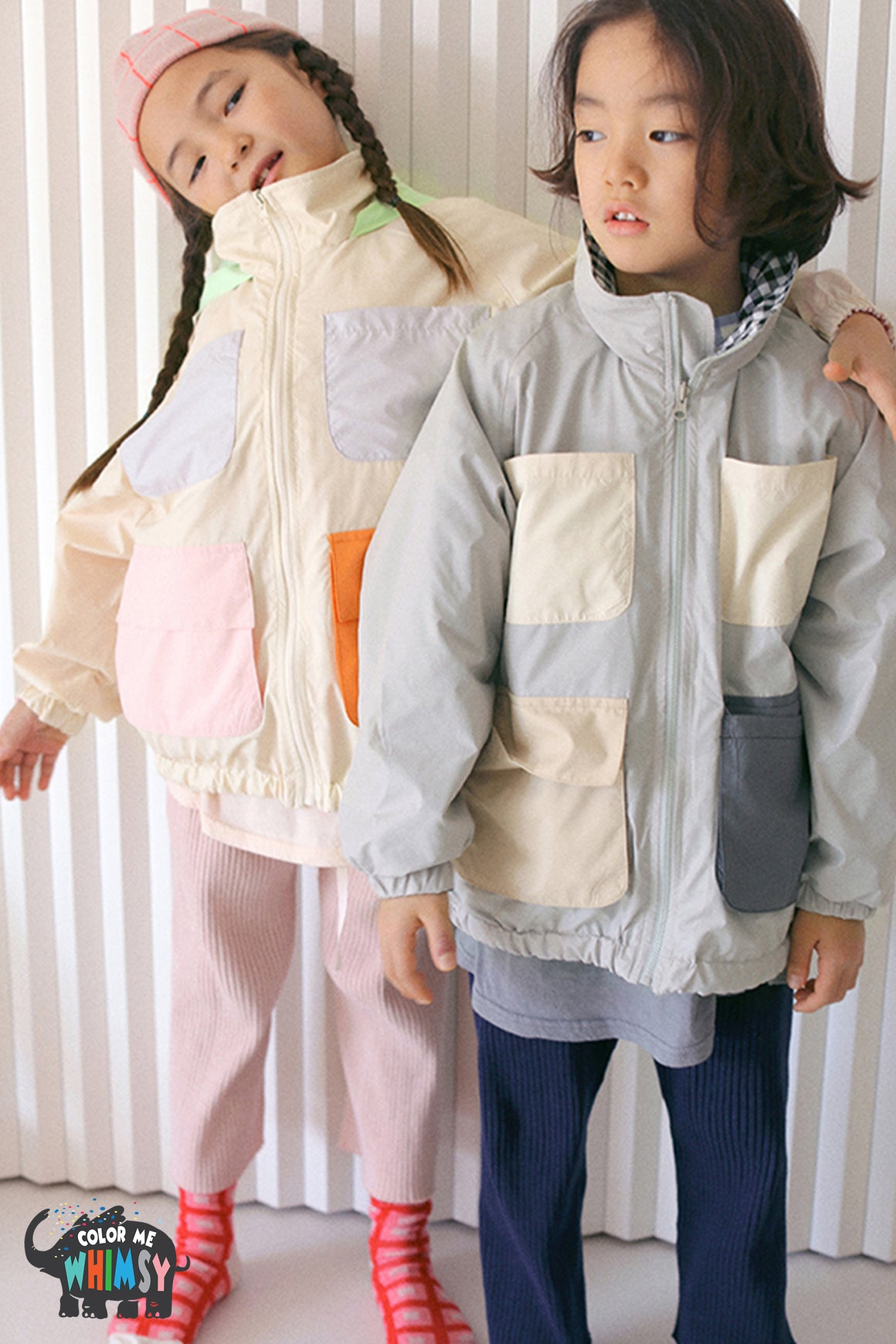 BN Reversible Windbreaker - Two Colors - Color Me WHIMSY