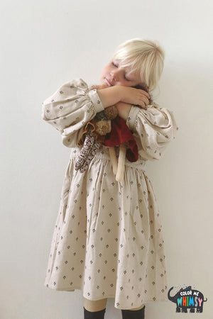 BN Shirt Puff Dress at Color Me WHIMSY Hip Kid's Fashion Ethically Made in South Korea