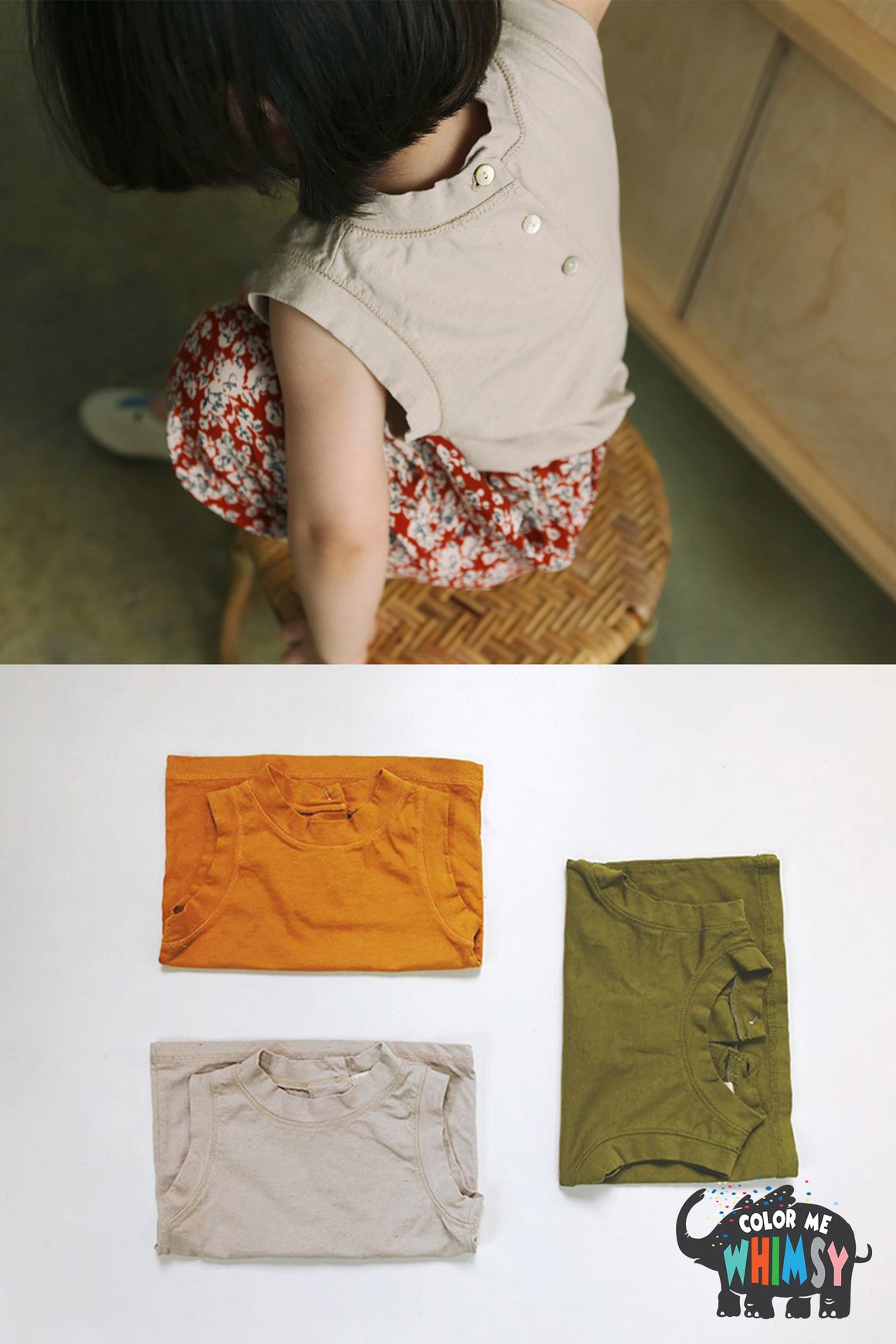BN Linen Single Cami-top at Color Me WHIMSY Hip Kid's Fashion Ethically Made in South Korea
