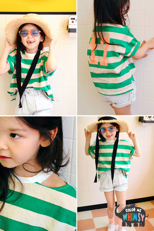 Peach and Cream Seventeen Top at Color Me WHIMSY Hip Kid's Fashion Ethically Made in South Korea
