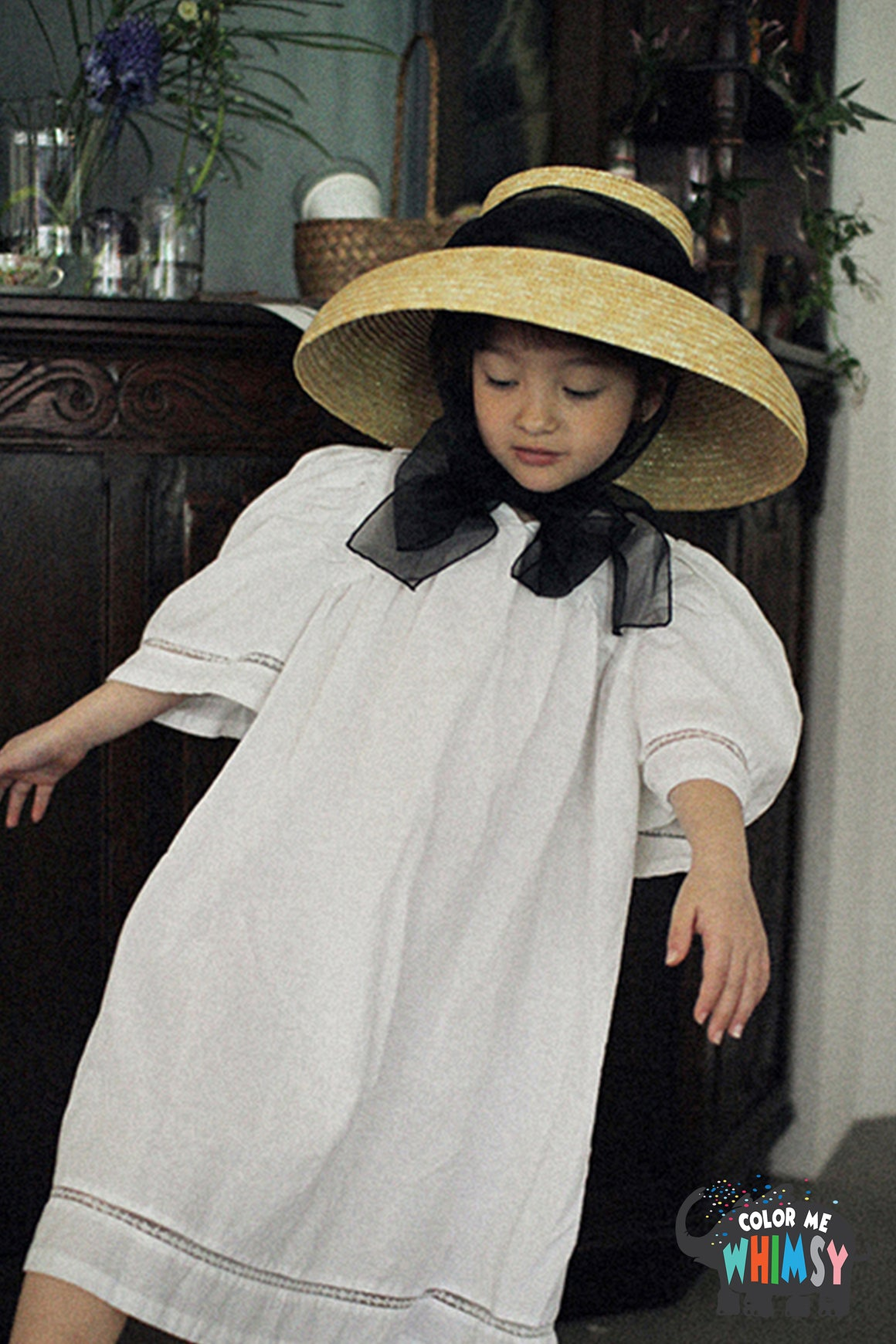 SCON Adella Dress at Color Me WHIMSY Hip Kid's Fashion Ethically Made in South Korea