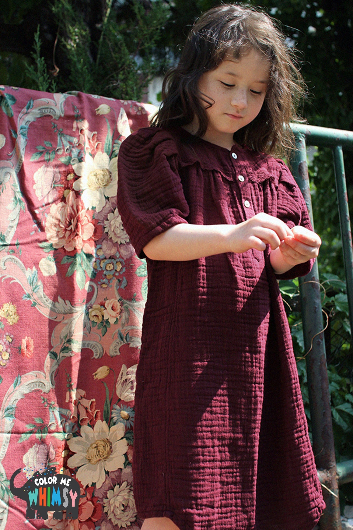 SCON Ashre Dress at Color Me WHIMSY Hip Kid's Fashion Ethically Made in South Korea