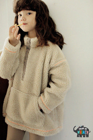 SCON Fluffy Fur Pullover at Color Me WHIMSY Hip Kid's Fashion Ethically Made in South Korea