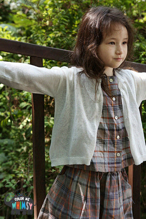 SCON Julie Summer Cardigan at Color Me WHIMSY Hip Kid's Fashion Ethically Made in South Korea