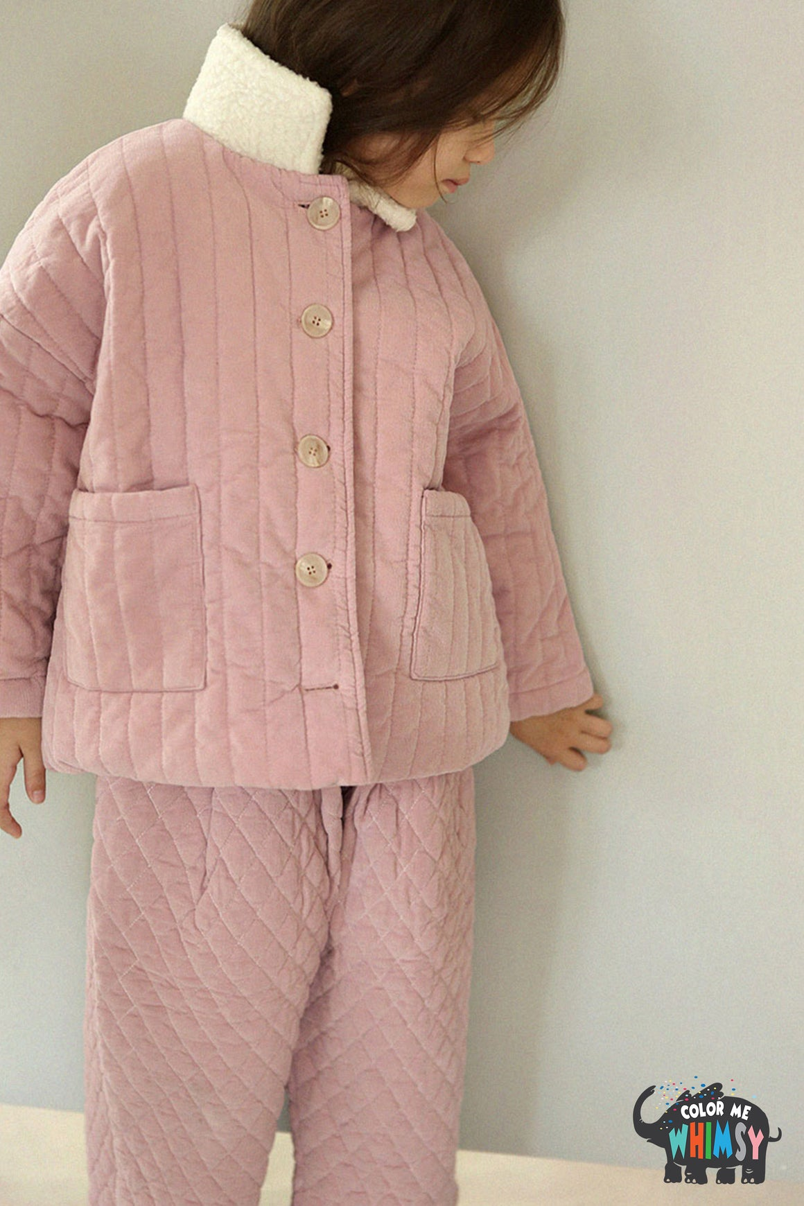 SCON Kale Quilt Jacket at Color Me WHIMSY Hip Kid's Fashion Ethically Made in South Korea