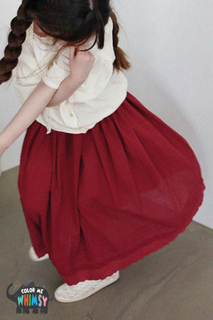 SCON Leubene Skirt at Color Me WHIMSY Hip Kid's Fashion Ethically Made in South Korea