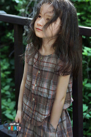 SCON Mocha Blouse at Color Me WHIMSY Hip Kid's Fashion Ethically Made in South Korea