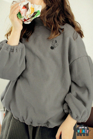 SCON Norton Sweatshirt at Color Me WHIMSY Hip Kid's Fashion Ethically Made in South Korea