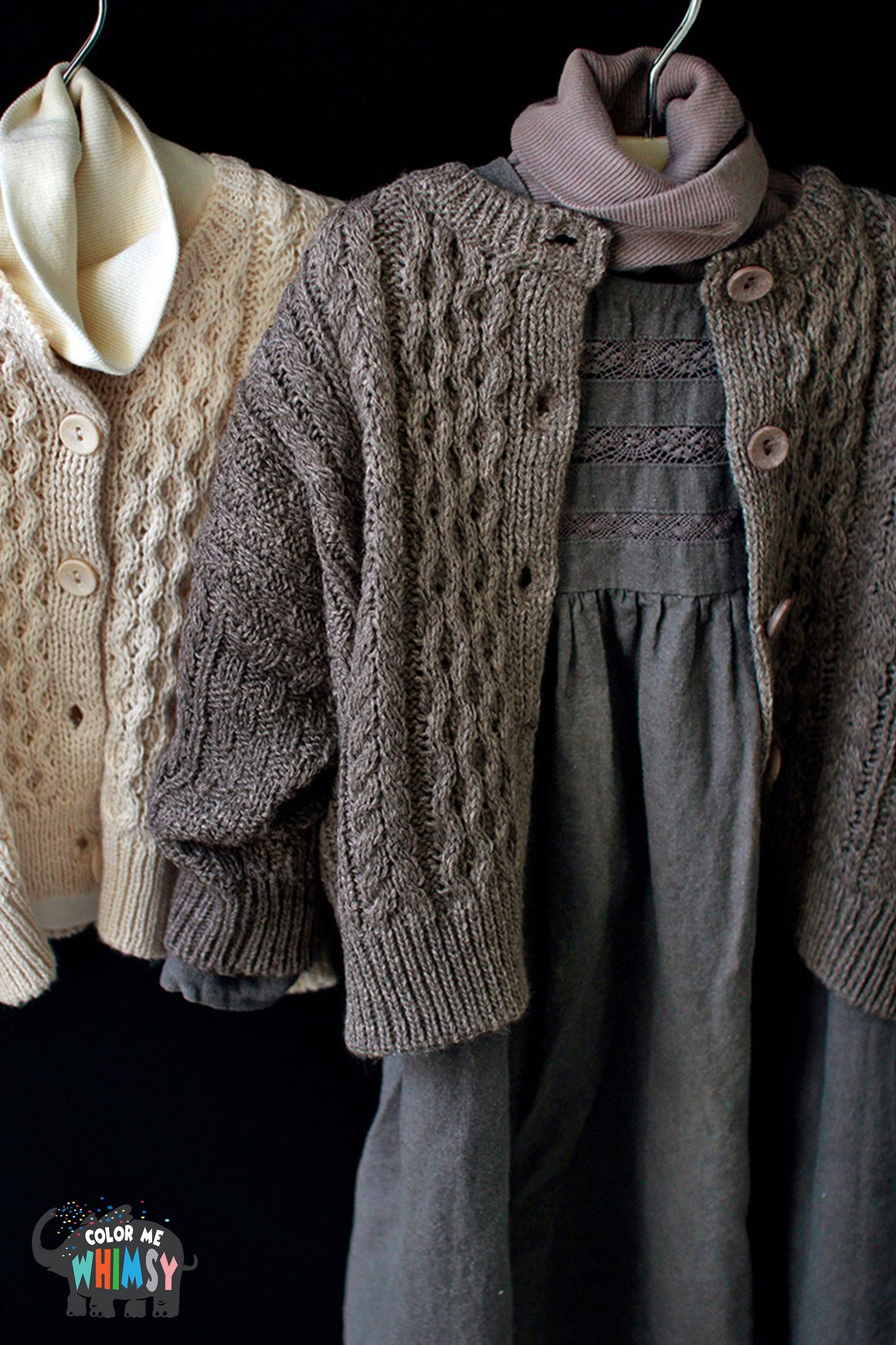SCON Rachal Knit Cardigan at Color Me WHIMSY hip kid's fashion ethically made in south korea
