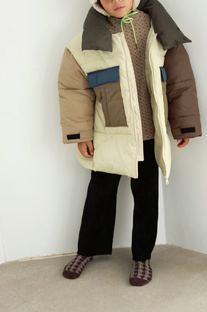 BN Color Block Padded Jacket at Color Me WHIMSY Hip Kid's Fashion Ethically Made in South Korea