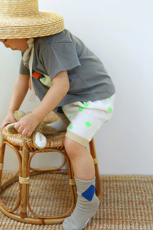 BN Dot Knit Short Pants at Color Me WHIMSY Hip Kid's Fashion Ethically Made in South Korea