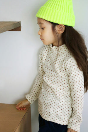 BN Waffle Polar T-shirt at Color Me WHIMSY Hip Kid's Fashion Ethically Made in South Korea