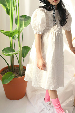 Peach and Cream Princess Dress at Color Me WHIMSY Hip Kid's Fashion Ethically Made in South Korea