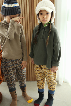 BN Jacquard Knit Pants at Color Me WHIMSY Hip Kid's Fashion Ethically Made in South Korea