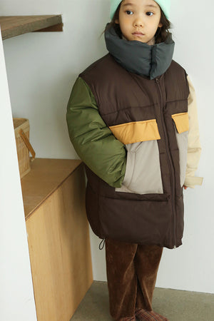 BN Color Block Padded Jacket - Only 1 left in stock - Color Me WHIMSY