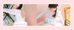 Peach and Cream Girl Swimwear at Color Me WHIMSY Hip Kid's Fashion Ethically Made in South Korea