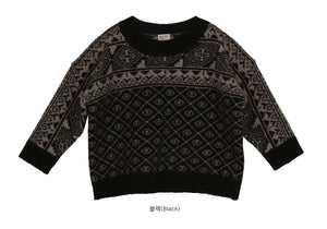 SCON Agatha Knit Pullover at Color Me WHIMSY hip kid's fashion ethically made in south korea