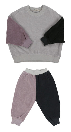 Bien a Bien BN Color Block Casual Set at Color Me WHIMSY hip kid's fashion ethically made in south korea