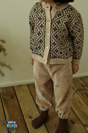Amber Butter Jacquard Cardigan - Two Colors - Color Me WHIMSY