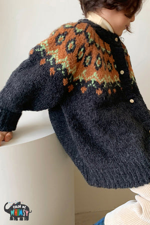 BN Belguim Cardigan at Color Me WHIMSY Hip Kid's Fashion Ethically Made in South Korea