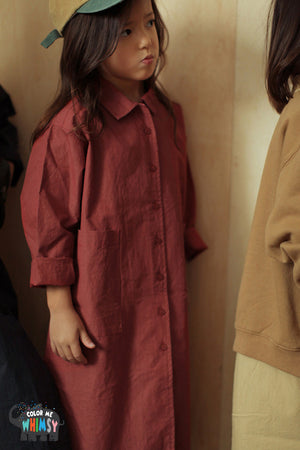 Bien a Bien BN Bern Shirt Dress at Color Me WHIMSY hip kid's fashion ethically made in south korea
