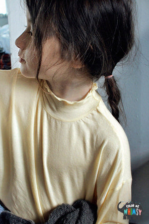 SCON Lizzy Half-Turtleneck T-shirt at Color Me WHIMSY hip kid's fashion ethically made in south korea