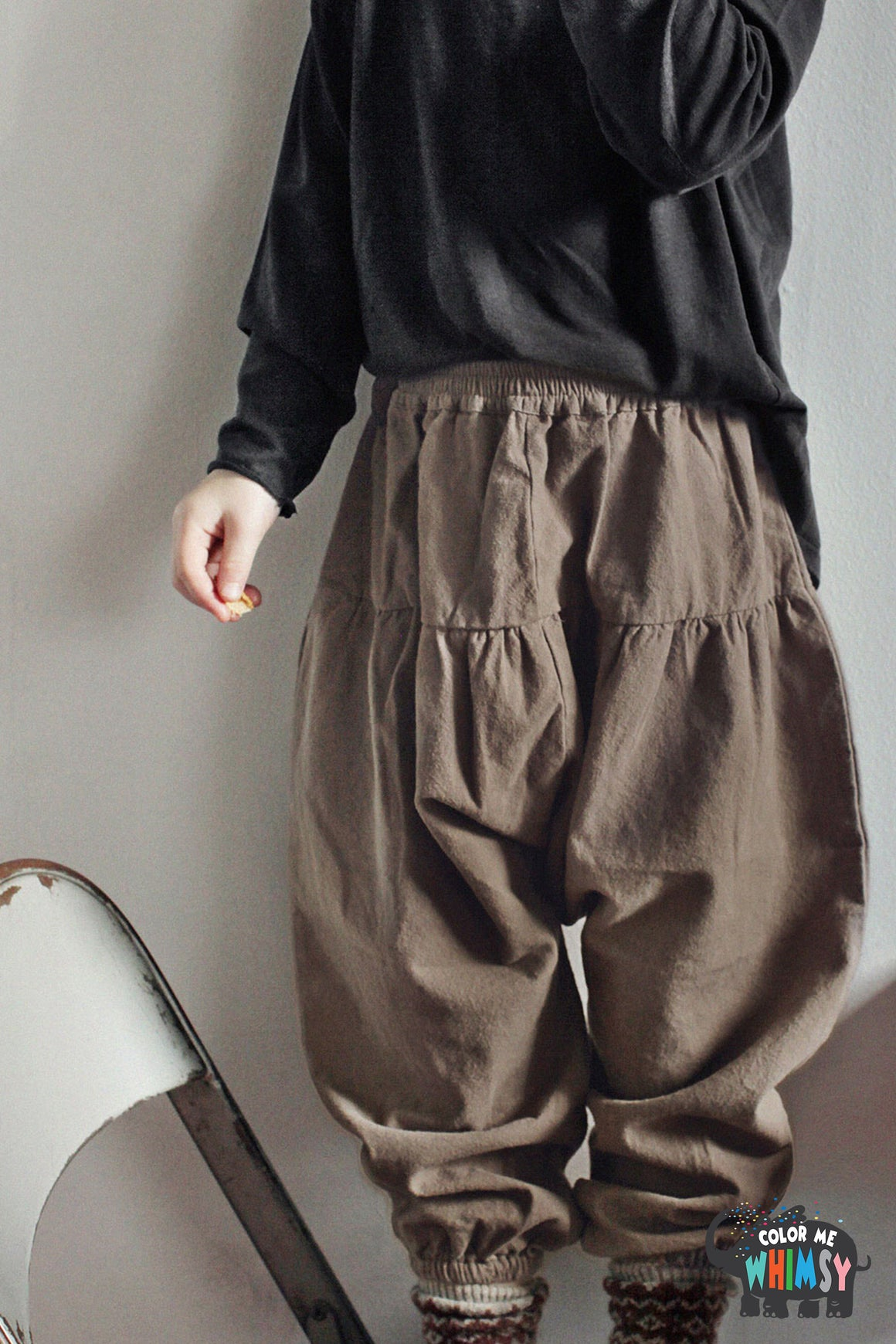 SCON Lunese Pants at Color Me WHIMSY hip kid's fashion ethically made in south korea