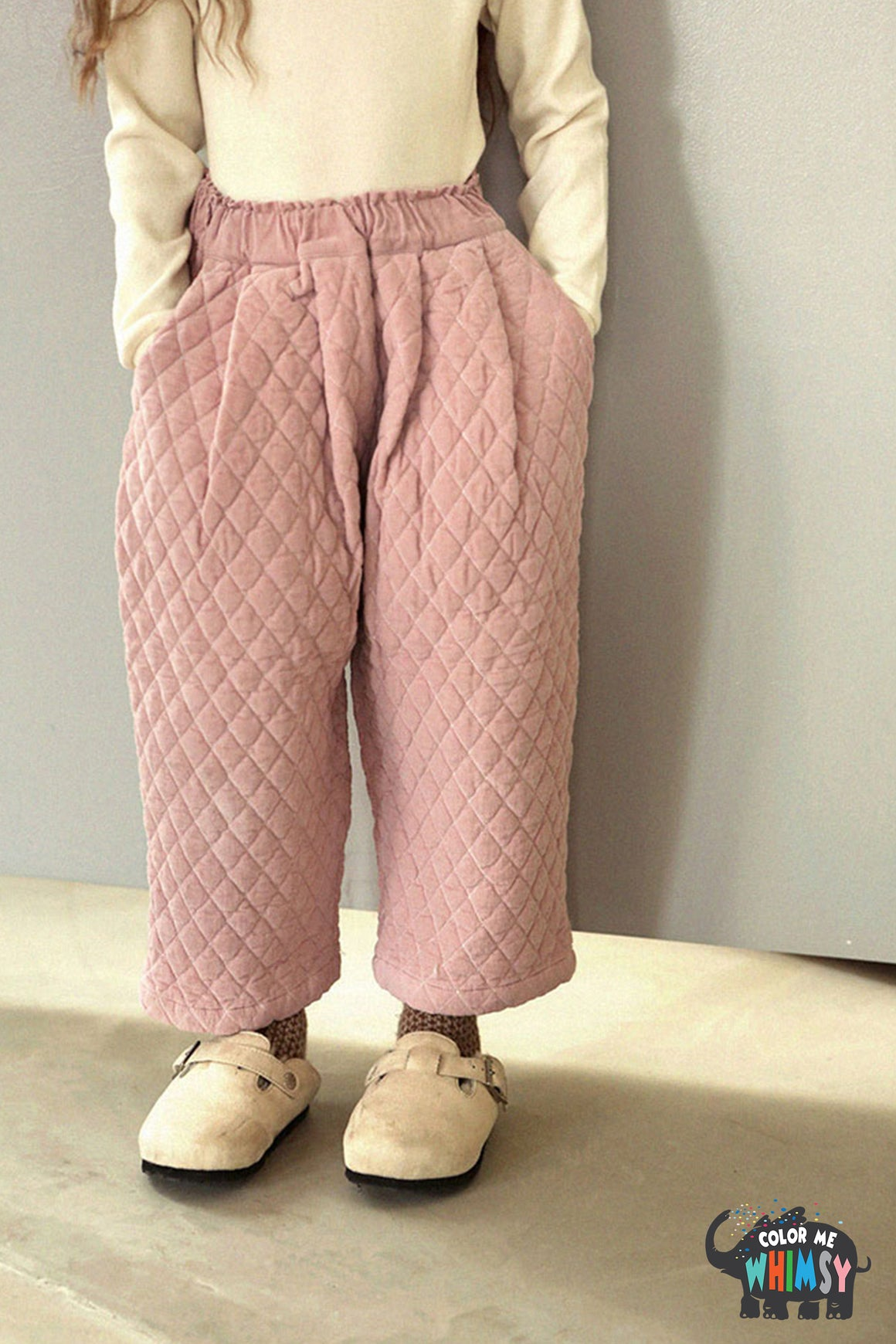 SCON Serin Quilt Pants at Color Me WHIMSY Hip Kid's Fashion Ethically Made in South Korea