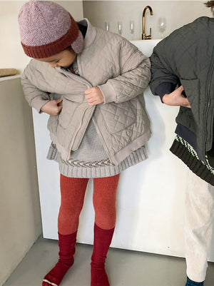 BN La Beaute Quilting Jacket at Color Me WHIMSY Hip Kid's Fashion Ethically Made in South Korea