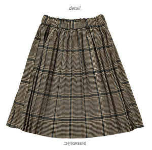 Bien a Bien BN Pleats Skirt at Color Me WHIMSY hip kid's fashion ethically made in south korea