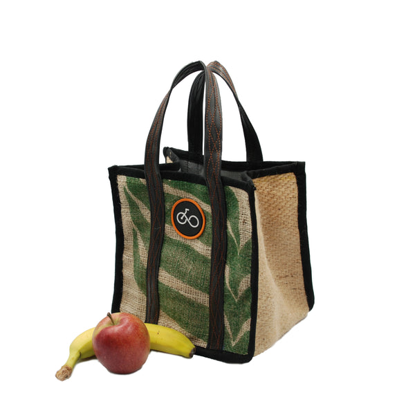 Recycled Coffee Sack & Inner Tube Lunch Bag
