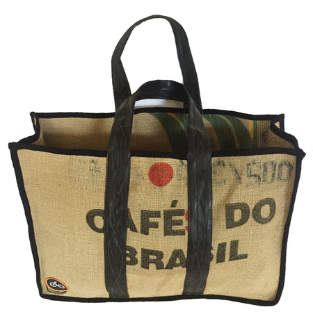 Recycled Coffee Sack & Inner Tube Shopper Bag
