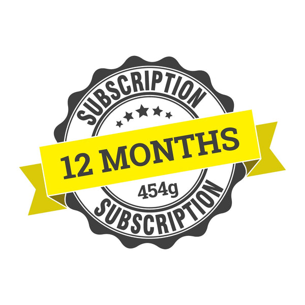 12 month coffee subscription (12 x 454g)
