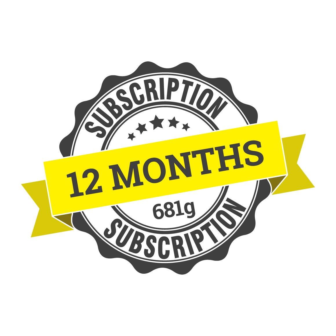 12 month coffee subscription (12 x 681g)