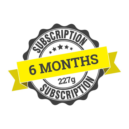 6 month coffee subscription (6 x 227g)