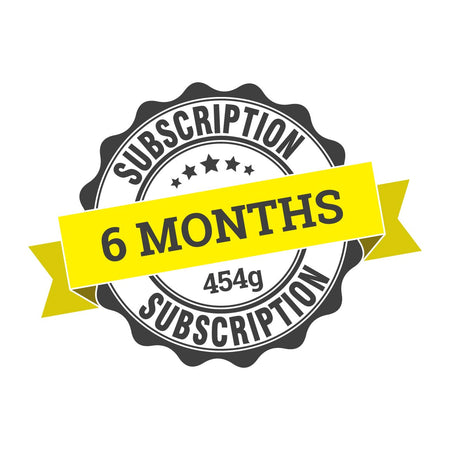 6 month coffee subscription (6 x 454g)