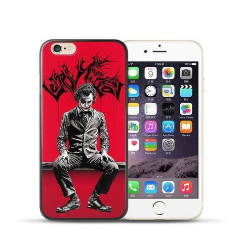 Boutique Joker iPhone 5 5S SE Coque Joker Iphone <br> Noir et Rouge Joker