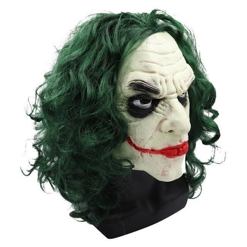 Boutique-Joker Mask 2 / S Movie Joker Batman The Dark Knight Joker Cosplay Joker Purple Suit Outfits Men Halloween Costumes Fancy Mask Shoes Heath Ledger Joker