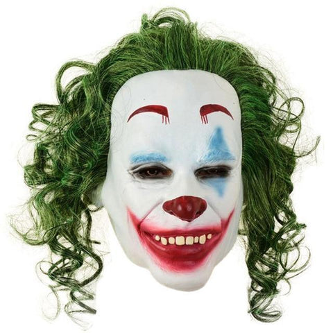 Boutique-Joker Mask 3 / S Movie Joker Batman The Dark Knight Joker Cosplay Joker Purple Suit Outfits Men Halloween Costumes Fancy Mask Shoes Heath Ledger Joker