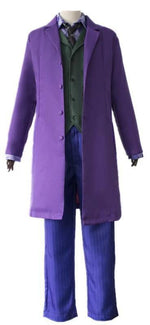 Boutique-Joker Movie Joker Batman The Dark Knight Joker Cosplay Joker Purple Suit Outfits Men Halloween Costumes Fancy Mask Shoes Heath Ledger Joker