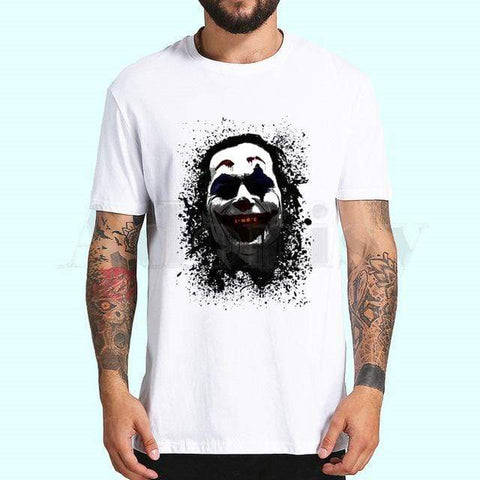 Boutique-Joker P / L / China Joker Joaquin Phoenix Tshirts Men Fashion Summer t-shirts Tshirt Hip Hop Girl Printed Top Tees streetwear Harajuku Funny Joker