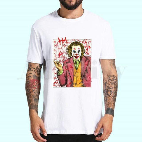 Boutique-Joker S / XXXL / China Joker Joaquin Phoenix Tshirts Men Fashion Summer t-shirts Tshirt Hip Hop Girl Printed Top Tees streetwear Harajuku Funny Joker