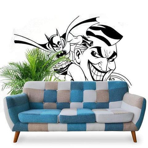 Boutique-Joker Sticker 58x81cm Sticker Joker <br> Contre Batman Joker