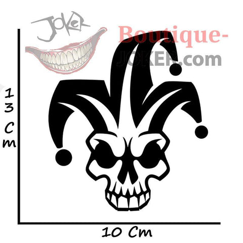 Boutique-Joker Sticker Black Sticker Joker <br> Tête de Mort Joker